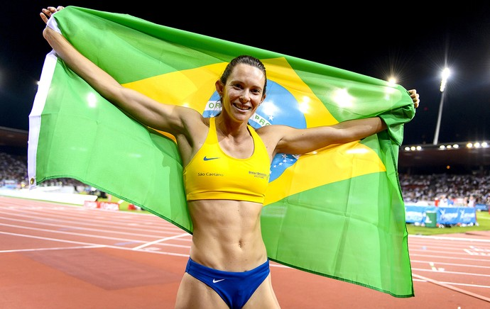 Fabiana Murer salto com vara Diamond League (Foto: AFP)