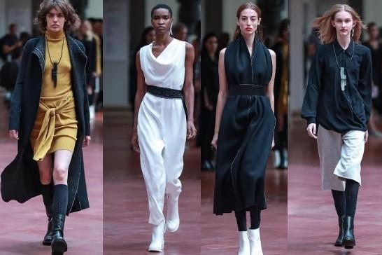 Coleção da Uma apostou em casacos com pegada esportiva no desfile da São Paulo Fashion Week (Foto: Ag News)