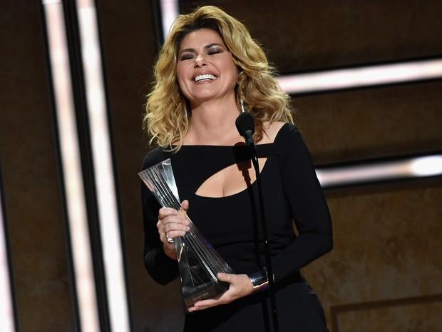Shania Twain em prêmio de música em Nashville, no Tennessee, nos Estados Unidos (Foto: Rick Diamond/ Getty Images/ AFP)