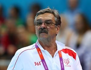 Ratko Rudic conquistou o ouro no polo aquático com a Croácia na Olimpíada de 2012 (Foto: Getty Images)