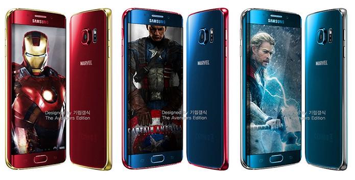 Modelos projetados pelo site no rumor das versões personalizadas dos Vingadores (Foto: Reprodução/SamMobile)