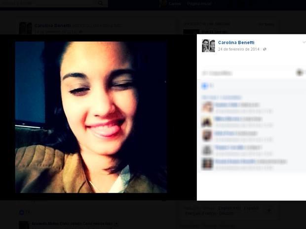 Carolina Benetti morreu no acidente (Foto: Reprodução/Facebook)