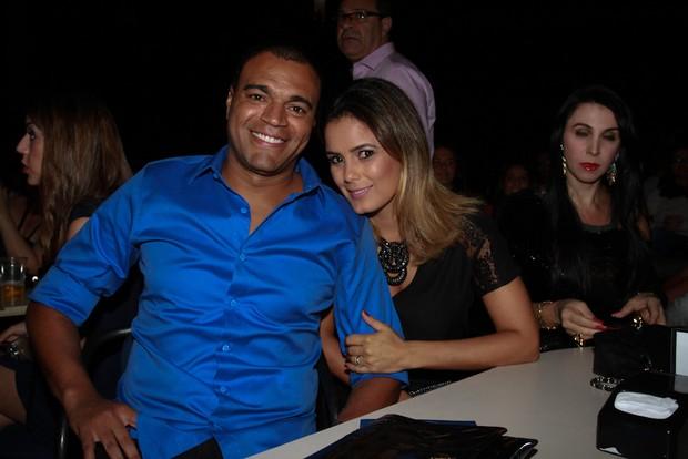 Denilson e Luciele Di Camargo (Foto: Cláudio Augusto/Photo Rio News)