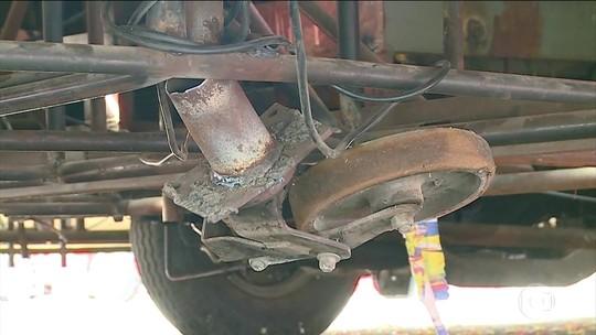 Perícia constata roda danificada em carro que feriu 20 na Sapucaí