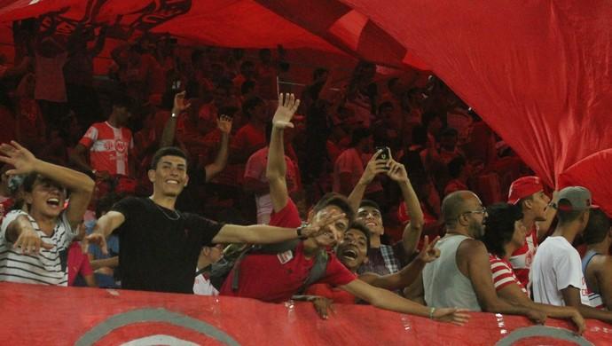 Torcida do América-RN volta à Arena das Dunas (Foto: Canindé Pereira/Divulgação)