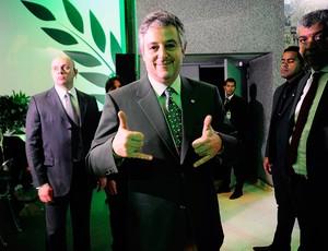 Paulo Nobre presidente do Palmerias festa 100 anos (Foto: Marcos Ribolli / Globoesporte.com)
