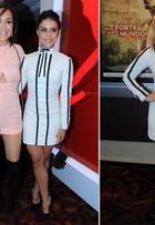 Paloma Bernardi e Renata Dominguez usam o mesmo vestido em pré-estreia