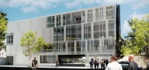 Projeção do novo prédio da Casa Firjan