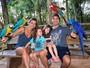 Marco Luque aproveita final de semana em resort com a família