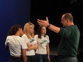 Taís Araújo, Leandra Leal e Isabelle Druond, atrizes de Cheias de Charme, gravam film da fase de doação da campanha do Criança Esperança 2012 com o diretor Juarez Precioso (Foto: Divulgação / Christina Fuscaldo)