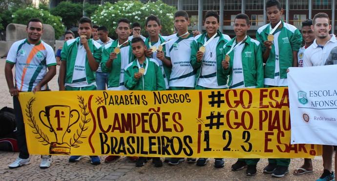 Lenderson da Silva, vôlei, piauí, Jogos Escolares da Juventude  (Foto: Josiel Martins )
