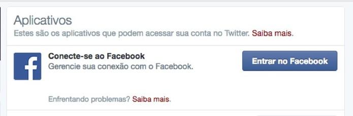 Botão de conexão com Facebook (Foto: Reprodução/André Sugai) (Foto: Botão de conexão com Facebook (Foto: Reprodução/André Sugai))