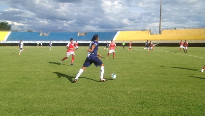 Ricanato vence o Taquarussú na décima rodada da Segundona (Foto: Edson Reis/GloboEsporte.com)
