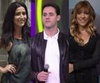 Maria Joana, Thiago Pereira e Júlia Rabello | Reprodução e TV Globo