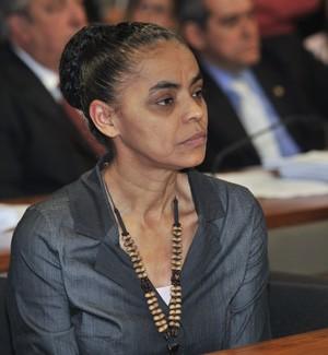Marina Silva, durante discussão do novo Código Florestal no Senado (Foto: José Cruz/Agência Senado)