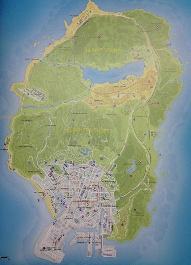 Imagem de suposto mapa da cidade de 'GTA V' vaza na internet (Foto: Reprodução/Reddit/GeENiE)