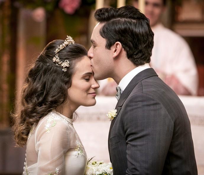 Maria e Celso se casam (Foto: Isabella Pinheiro/Gshow)
