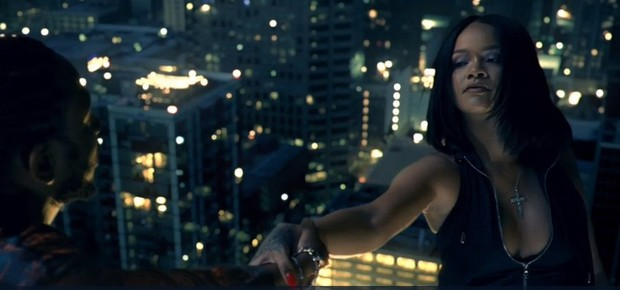 Kendrick Lamar e Rihanna no clipe de 'Loyalty' (Foto: reproduçao)