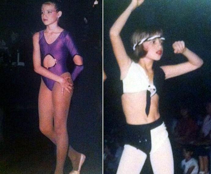Luana Piovani fazia dança quando era criança! Olha só que fofa! (Foto: Arquivo Pessoal)