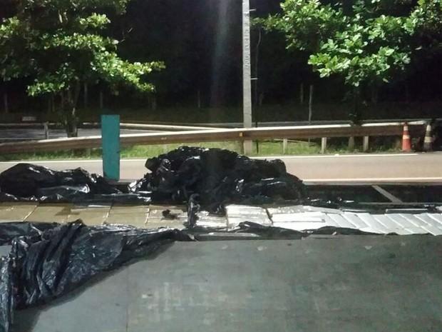 Motorista levava a droga do Paraná para entregar em São Paulo (Foto: Divulgação/Polícia Rodoviária)