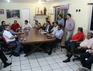 'Democracia Fortaleza' se reúne com diretoria do Leão no Pici (Foto: Site oficial do Fortaleza)