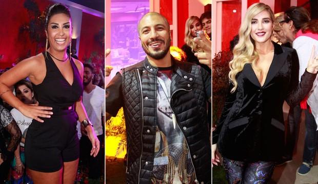 Ex-BBBs Amanda, Fernando e Aline na final do Big Brother Brasil 15 (Foto: Philippe Lima/ Foto Rio News)