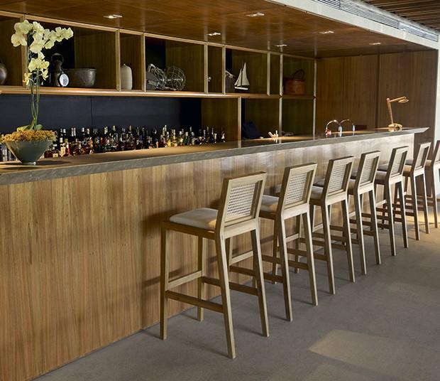 O bar da recepção (Foto: Camilla Maia)