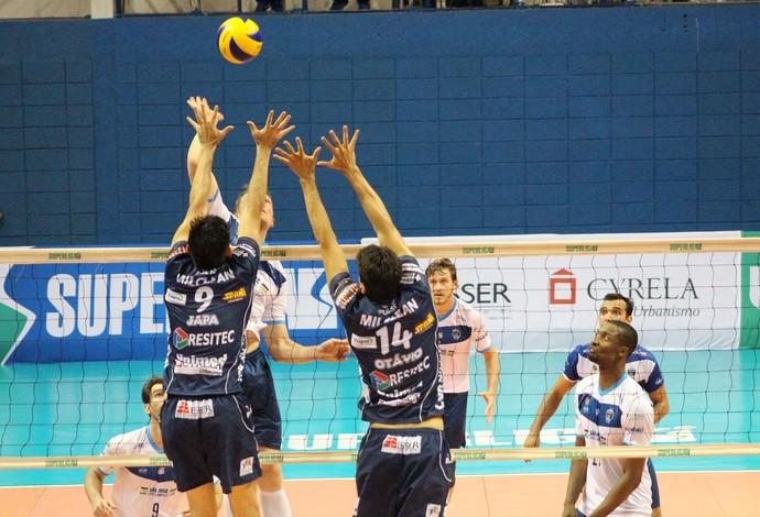 Taubaté e São José Vôlei se enfrentaram na Superliga (Foto: Rafinha Oliveira/Funvic Taubaté)