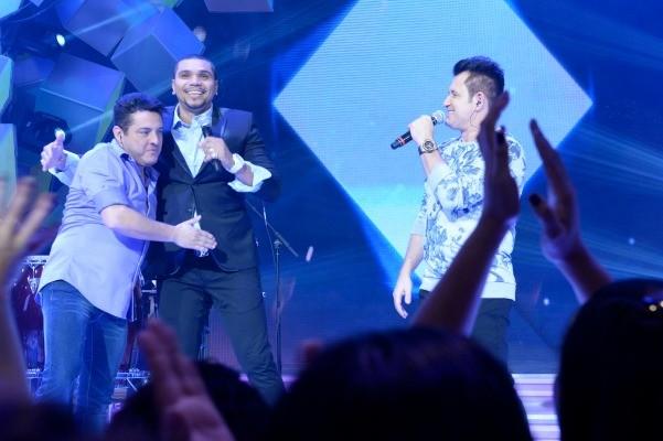 Bruno e Marrone participam do programa Sai do Chão  (Foto: Divulgação/TV Globo)