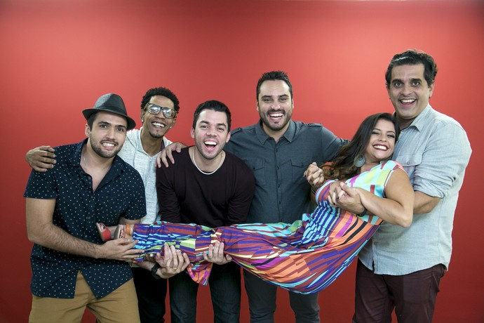 Samba de Donanna conta que número de fãs da banda aumentou com o SuperStar (Foto: Isabella Pinheiro/Gshow)