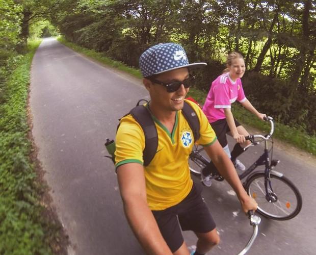 Pepe Silva mandou o click direto da Alemanha  (Foto: Divulgação/Arquivo Pessoal)