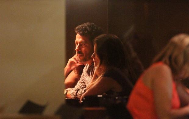 Marcos Palmeira em restaurante na Zona Sul do Rio (Foto: Rogério Fidalgo/ Ag. News)