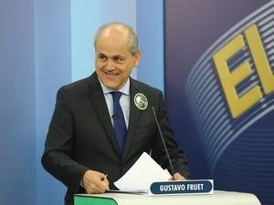 Candidato Gustavo Fruet (PDT) durante o debate da RPC Curitiba (Foto: Giuliano Gomes/PR Press)