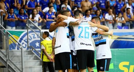donos  da bola (Lucas Uebel/Divulgação Grêmio)