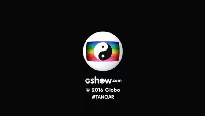 Logo da Globo recebe Yin Yang (Foto: TV Globo)