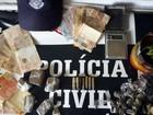 Casal é preso em flagrante com crack, maconha e munições em Itararé