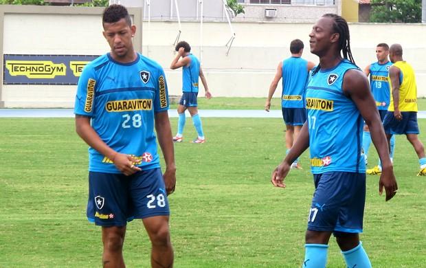 Andrezinho e Antonio Carlos no treino do Botafogo (Foto: Raphael Marinho / Globoesporte.com)