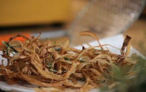 Para substituir a batata frita: aprenda a fazer palha de bardana