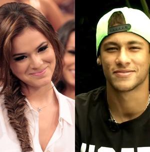 Bruna Marquezine agradeceu o apoio do namorado Neymar (Foto: Domingão do Faustão / TV Globo)
