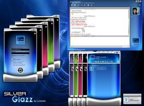 SilverGlazz Skin for Windows Live Messenger