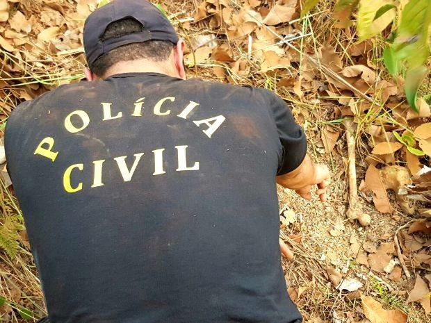 Polícia Civil localizou nas proximidades de lixão em Cuiabá a ossada de uma jovem desaparecida desde 2012. (Foto: Assessoria / Polícia Civil)