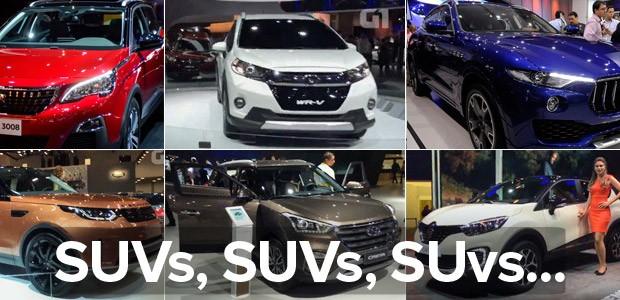 SUVs voltaram a dominar o Salão de SP em 2016 (Foto: G1)