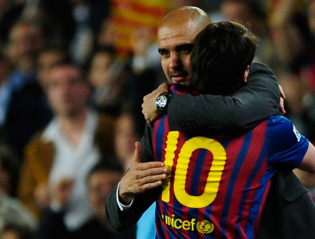 Messi Guardiola Barcelona (Foto: AP)