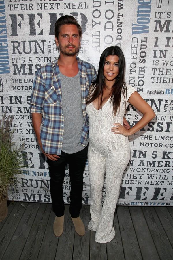 A celebridade Kourtney Kardashian e seu atual ex-marido Scott Disick (Foto: Getty Images)