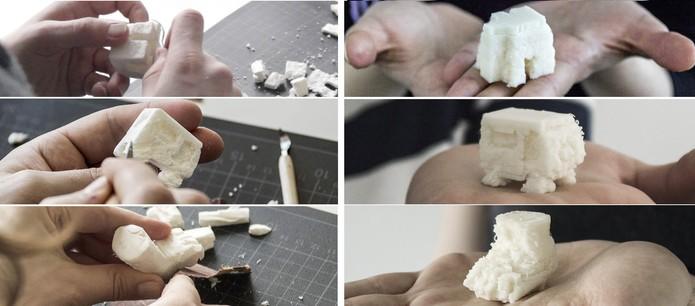 Objetos podem ser personalizados antes do envio pela impressora 3D (Foto: Divulgação/Scotty)