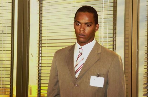 Rocco Pitanga como Felipe, em Da Cor do Pecado, em 2004 (Foto:  TV Globo / João Miguel Júnior)