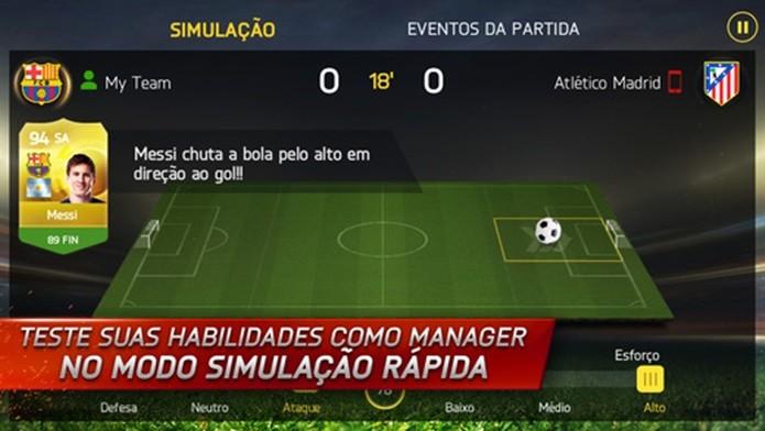 FIFA 15 é ideal para quem gosta de jogos de manager (Foto: Divulgação)