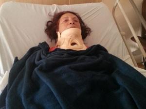 Marlene sofreu fratura na vértebra C7, o que poderia comprometer os movimentos de seus braços e pernas (Foto: Reprodução / Arquivo Pessoal)