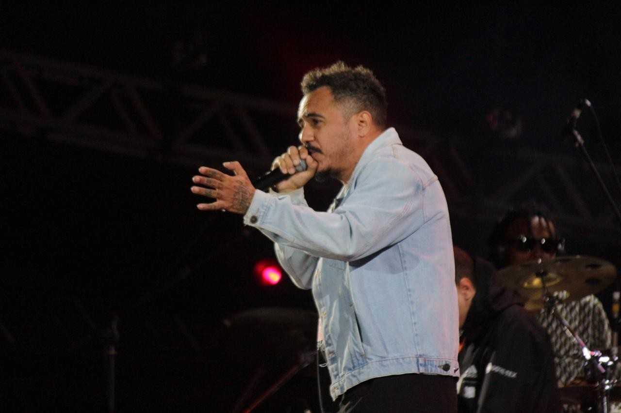 Marcelo D2 faz show no Joo Rock em Ribeiro Preto (Foto: Diego Matheus/Multishow)