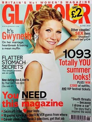 Gwyneth Paltrow na Glamour (Foto: Glamour/Reprodução)